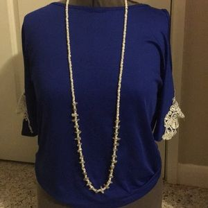 Jewelry - Elegant pearl  long necklace